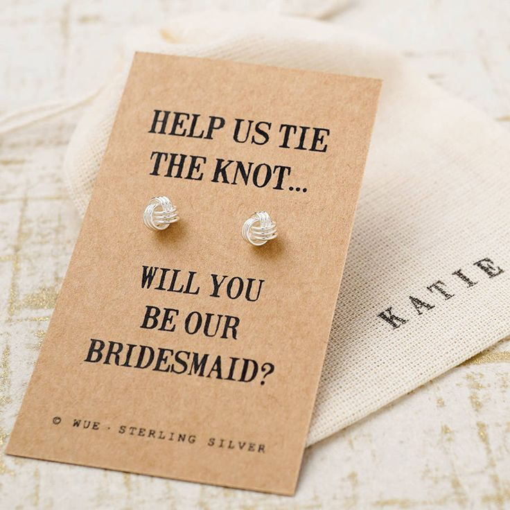 Bridesmaid knot earrings bridesmaid knot earrings