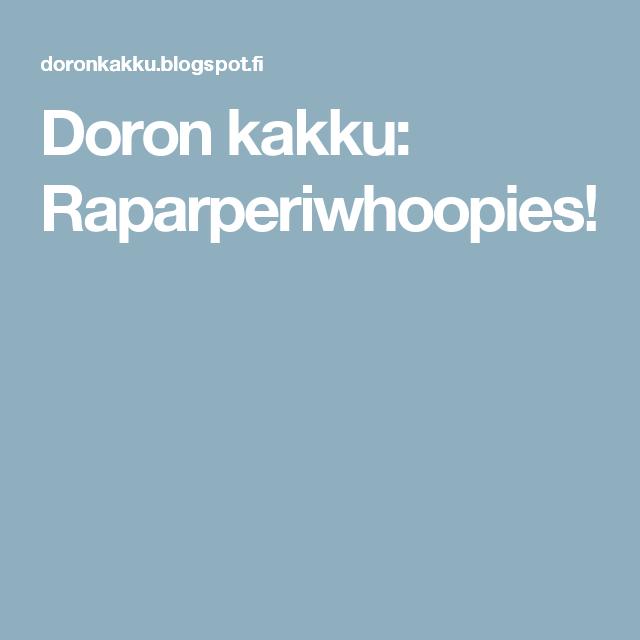 Doron kakku: Raparperiwhoopies!