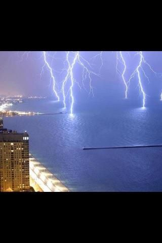 Lightening( its looks a little crazy to me lightening on water lol)☺