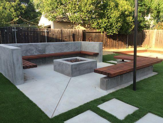 Fire Pit Seating Ideas 98 Decoratoo Jardins Modernos Jardins Pequenos Ideias De Quintais