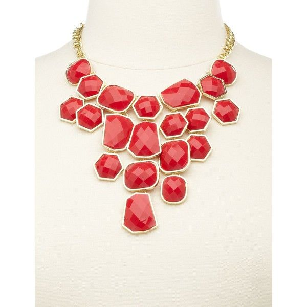 Faceted Gemstone Bib Necklace ($13) ❤ liked on Polyvore