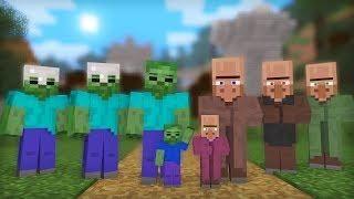 Zombie Villager Life Full Animation I Minecraft Animation Minecraft Animation Minecraft Videos