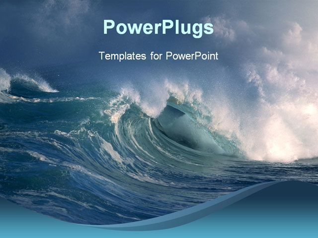Powerpoint template about blue ocean sea theatre inspiration ocean powerpoint template toneelgroepblik Images