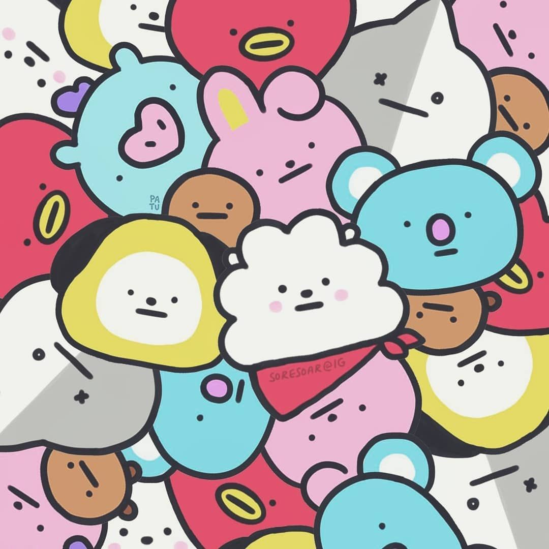 The cuteness level is out of this world. BT21 fanart