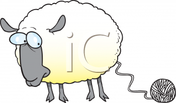 Knitting Clip Art | Royalty Free Sheep Clipart