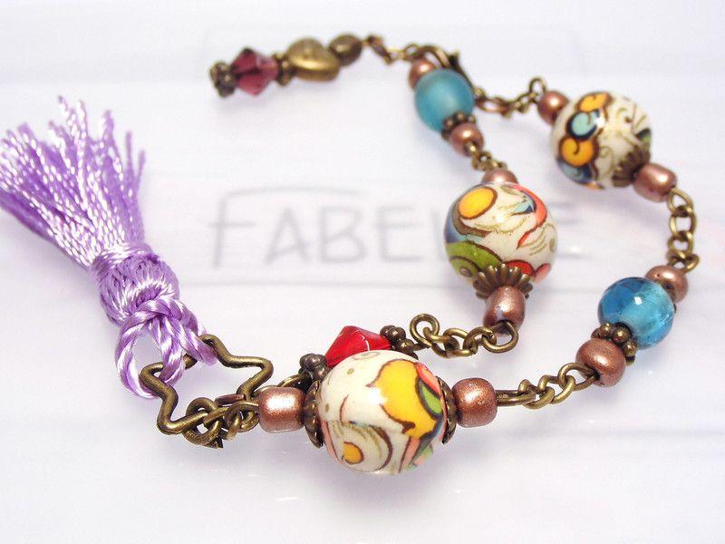 Fabelle UNIKAT Boho Hippie Style - FRÜHLING von Fabelle auf DaWanda.com