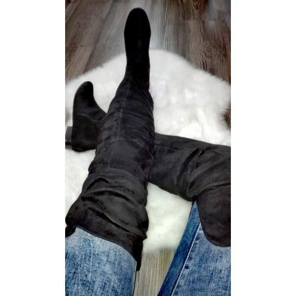 6b44cfe7e463 Semišové čižmy nad kolená veľ. 40