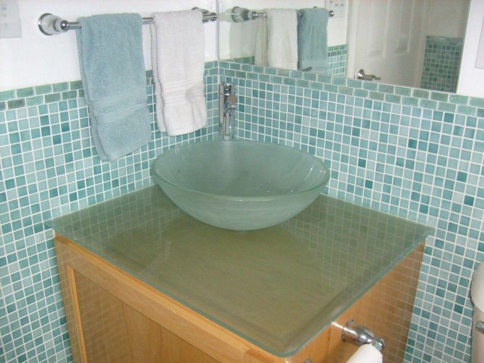 Sea Glass Shower | , : Fascinating Light Green Bathroom Design Ideas Using  Round Glass .