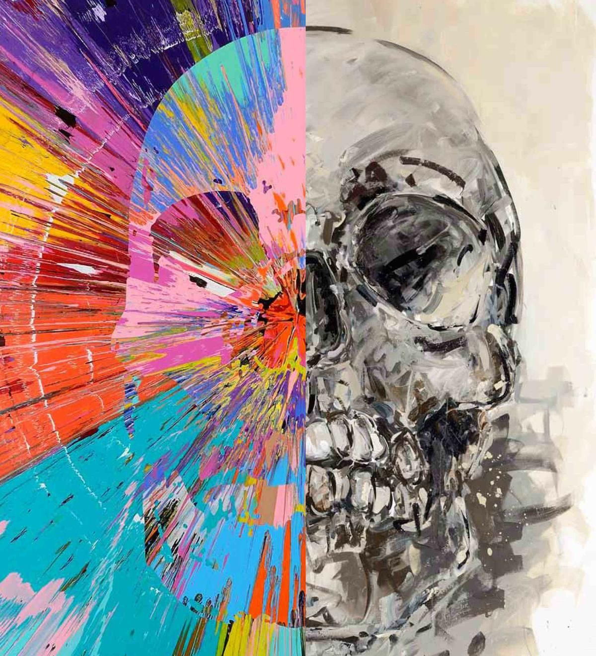 Check out this beautiful skull painting by acclaimed artist Damien ...