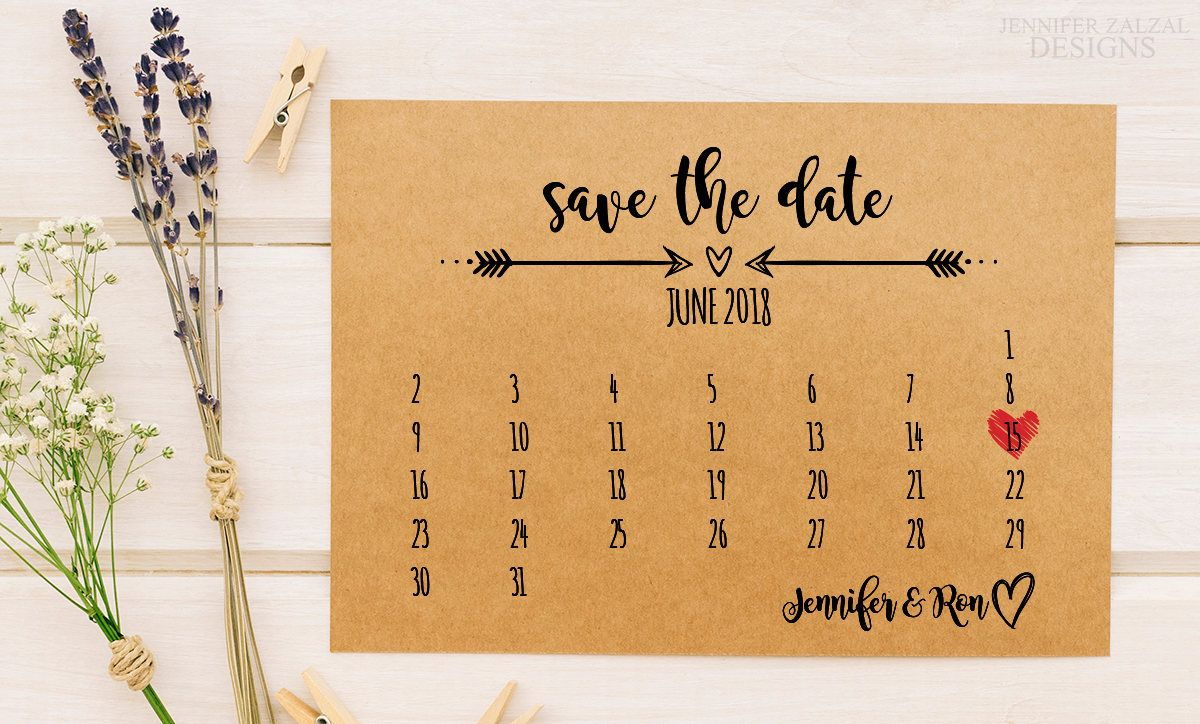 Rustic Calendar Save The Date Template Printable Wedding Etsy Save The Date Templates Notecard Set Save The Date
