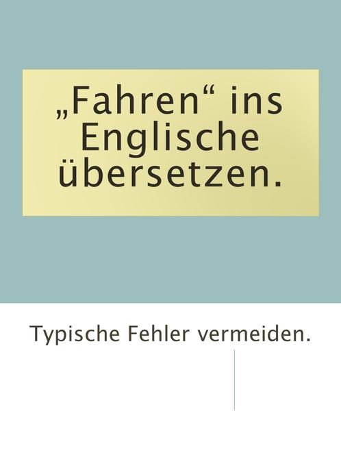FГјhren Auf Englisch