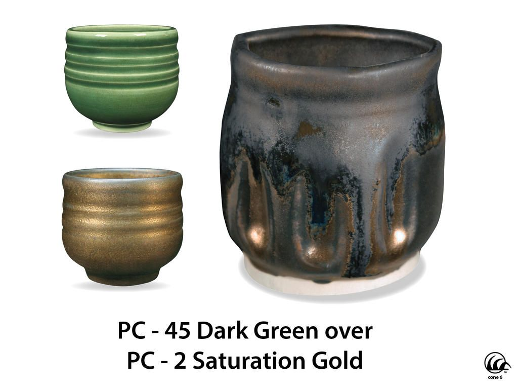 Pc 45 Dark Green Pint Amaco Glazes Green Pottery Glazes