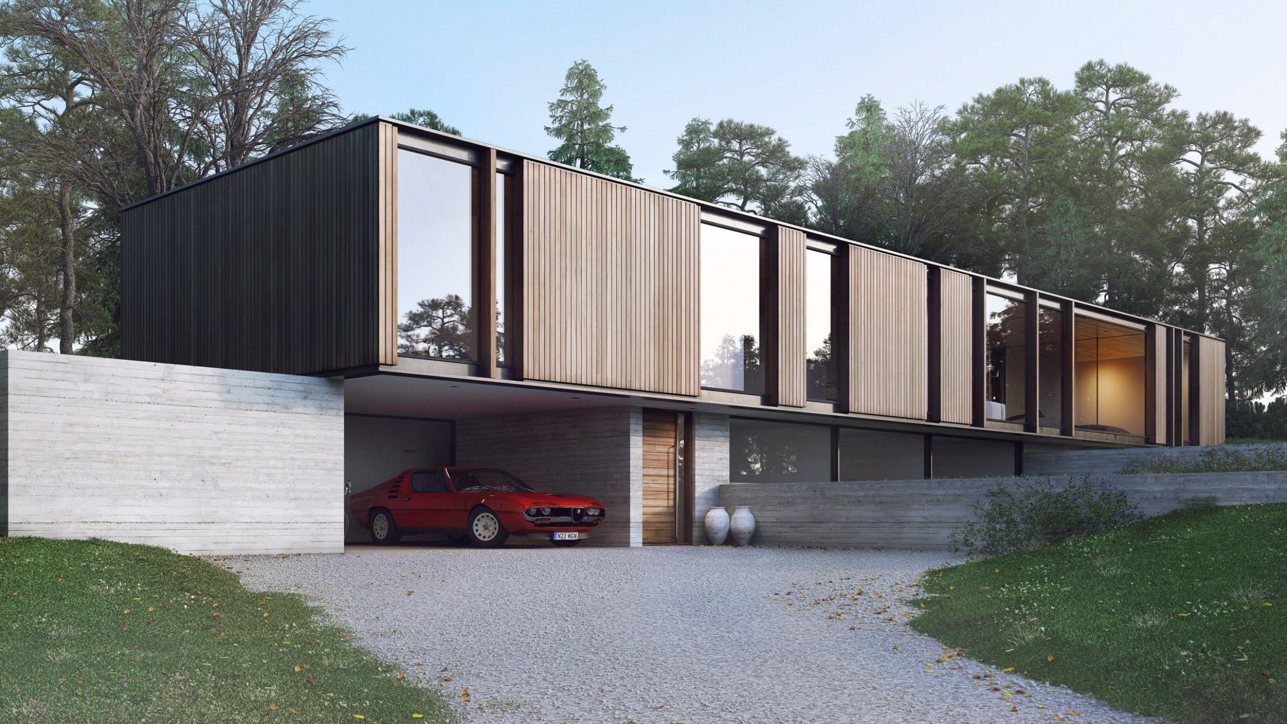 Pin de rene castro en casas lago en 2019 pinterest for Casa minimalista