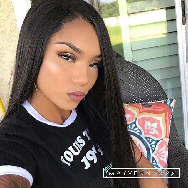 therealarianamarie slaying Brazilian Straight lengths 22 24 26 28 with a  18 360 Frontal . Hair provided by Mayvenn. Shop now at Hairgazim.Mayvenn. 692863c84