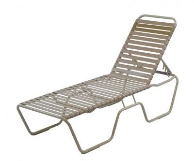 Vinyl Strap Commercial Chaise Lounge Commercial Pool Furniture