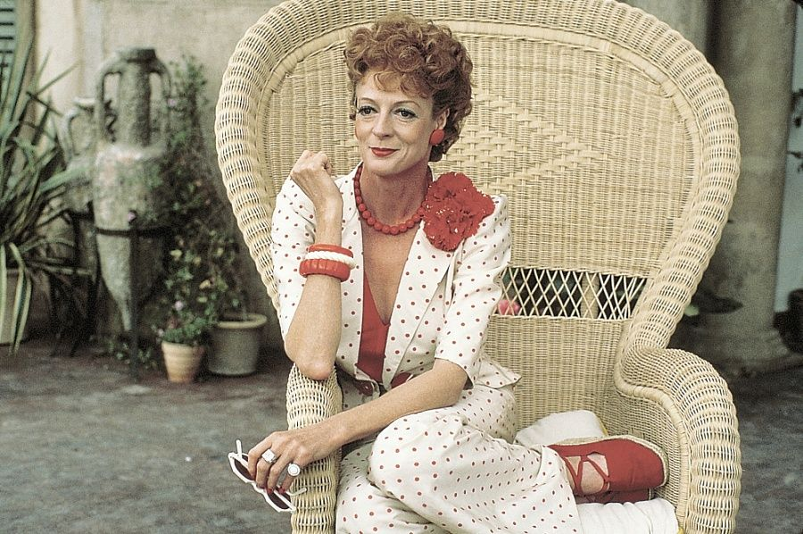 1982.  Evil Under the Sun.  Maggie Smith as Daphne Castle.