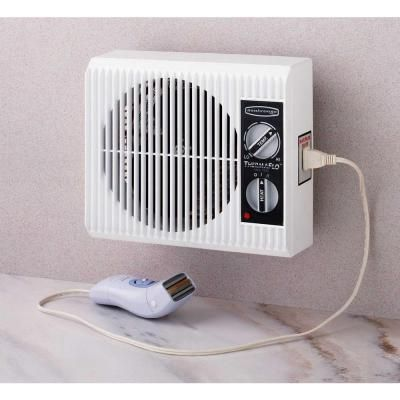 Seabreeze Off The Wall 1500 Watt Electric Portable Heater Sf12st The Home Depot Bathroom Heater Wall Mounted Heater Heater