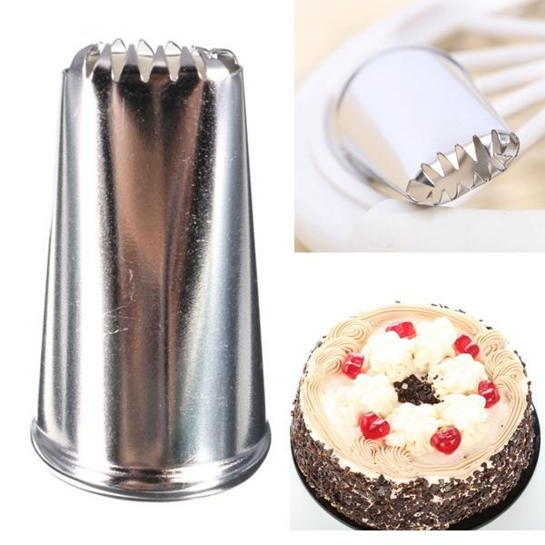DIY Icing Nozzle Home Kitchen Baking Cookie Piping Stainless Steel Cooking  Cake Decorating Tool in. DIY Icing Nozzle Home Kitchen Baking Cookie Piping Stainless Steel