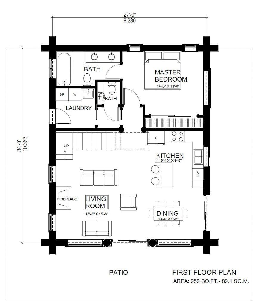 Horseshoe Bay Log House Plans Log Cabin Bc Canada Usa Log Home Plans Log Cabin Plans Log Cabin Floor Plans