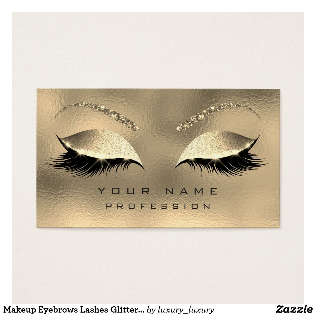 4f151662bbb Makeup Eyebrows Lashes Glitter Diamond Sparkly Business Card ...