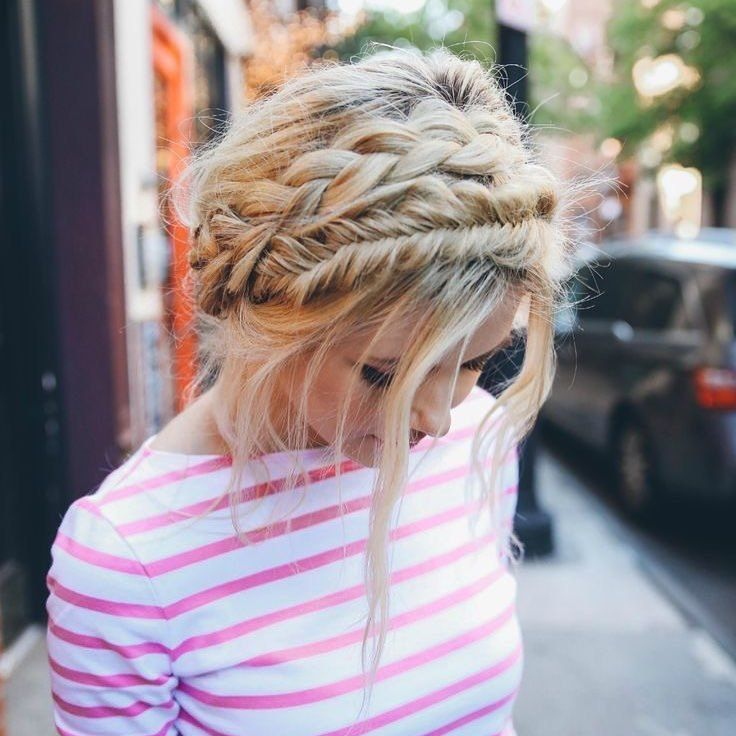 Fishtail braids #hairstyles #updo