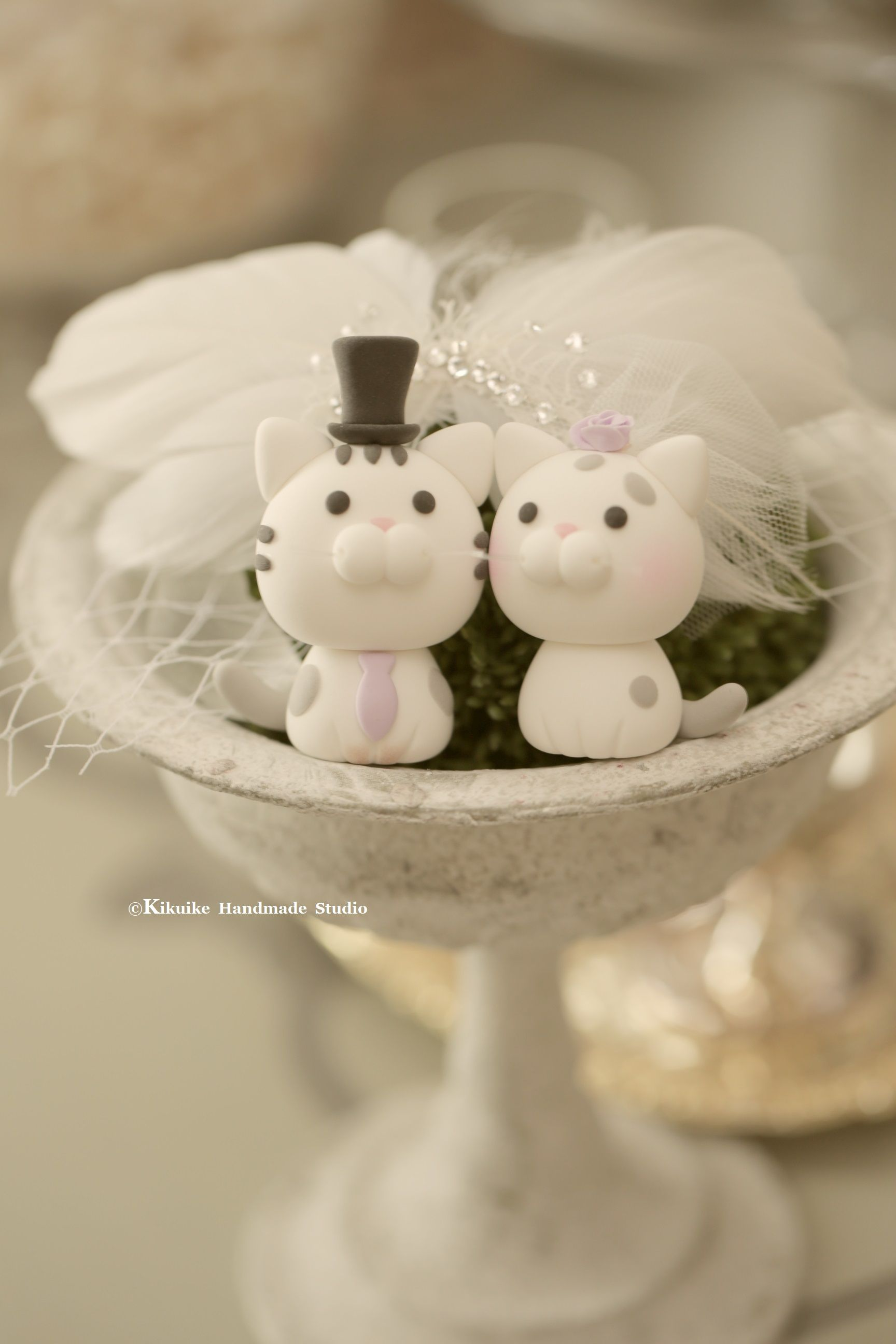 Cat wedding cake topper kitty wedding cake topper in cats