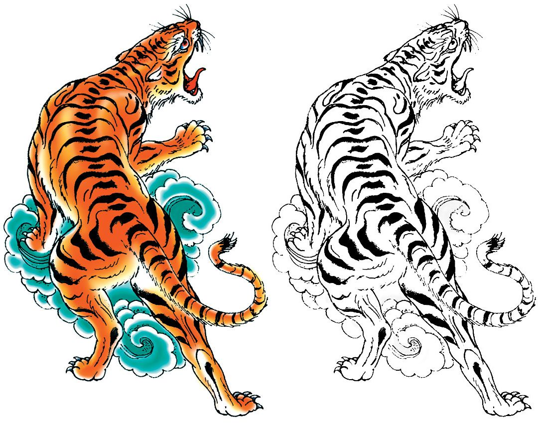japanese tiger tattoo designs - Google Search | tiger leg ...