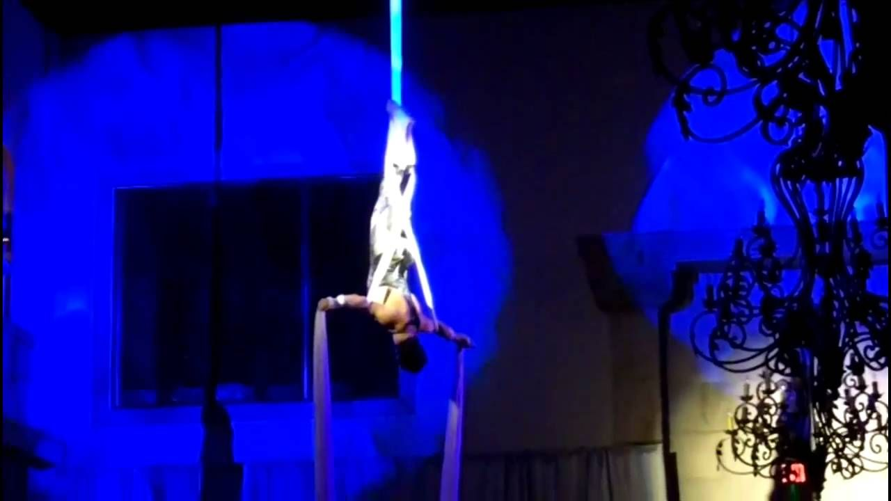 One of our male aerial silk artists here at J&D Entertainment Houston, Indian Wedding, Wedding Entertainment (www.jdentertain.com)