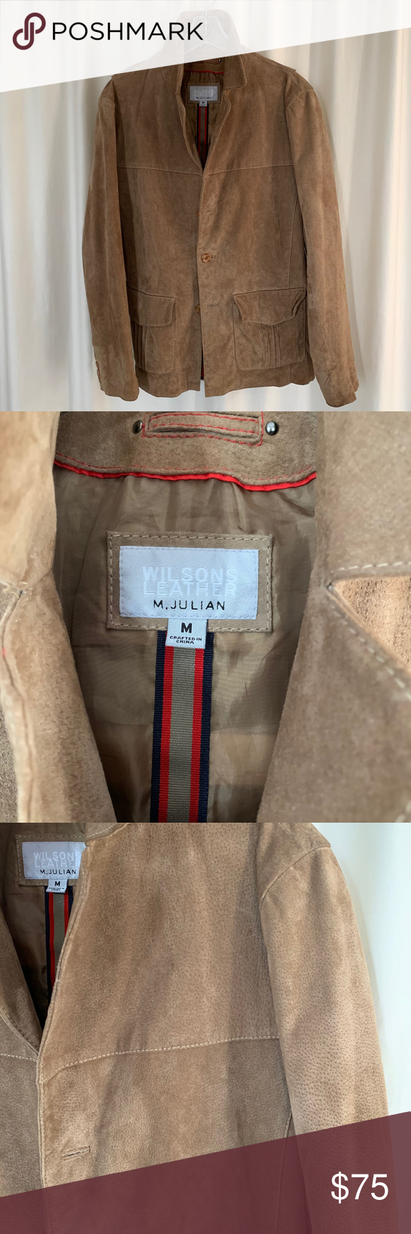 Wilsons Leather Men's Suede Jacket Medium (With images