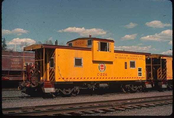 A Yellow caboose...