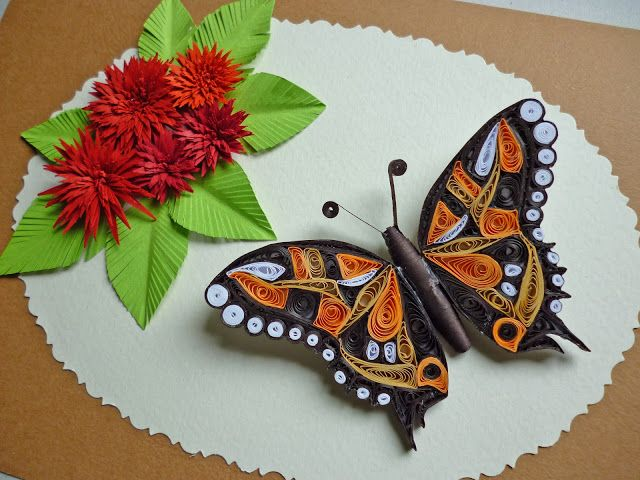 Black Orange White Butterfly Quilling Patterns Quilling
