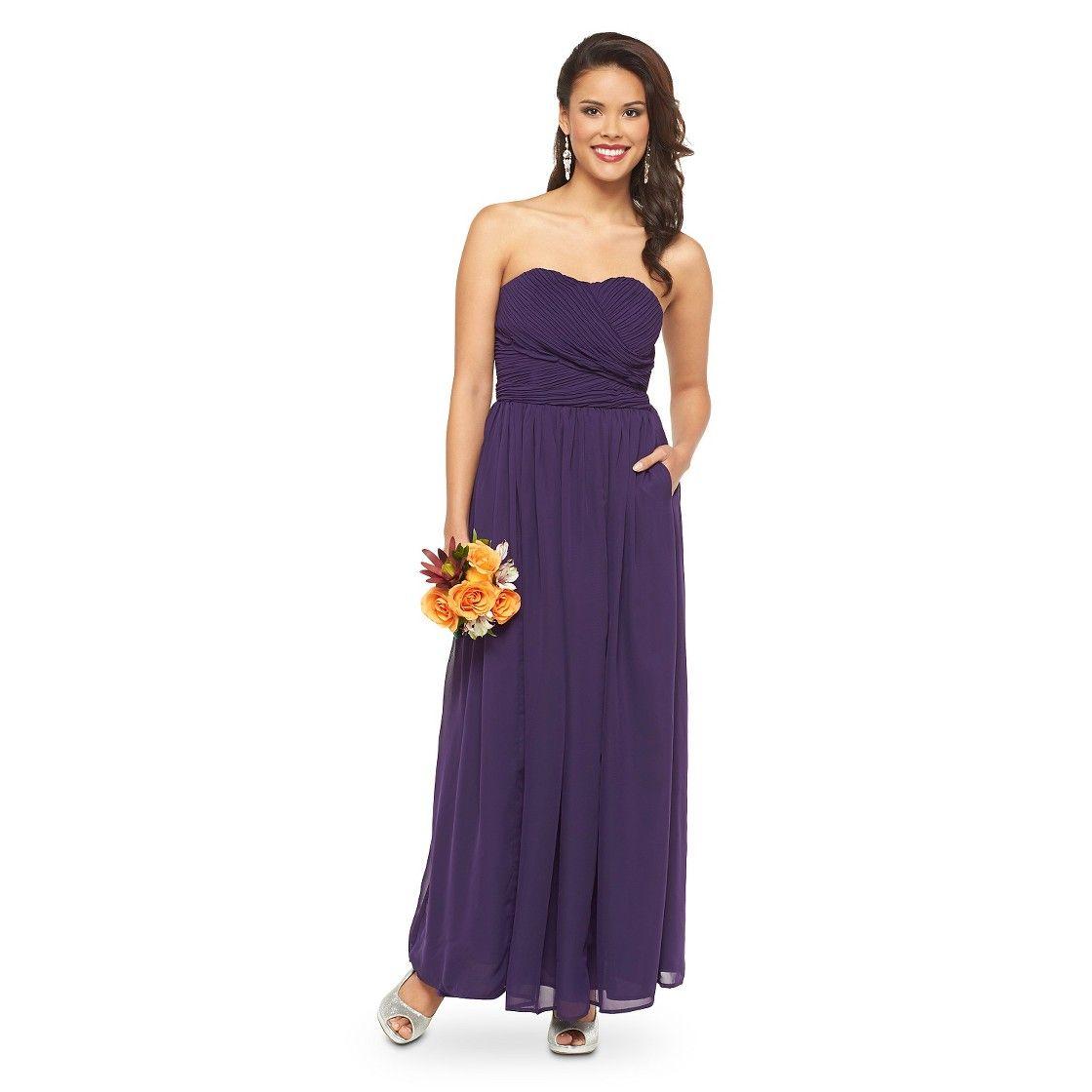 Women\'s Chiffon Strapless Maxi Bridesmaid Dress Fashion Colors ...