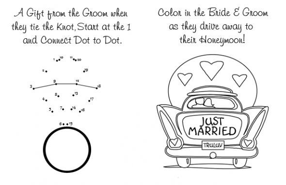 Can T Forget The Kids Wedding Activity Book Black Coloring Book