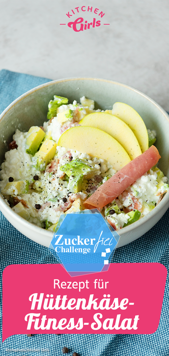 Recipe for cottage cheese fitness salad: kitchengirls.de / ... -  Recipe for cottage cheese fitness...