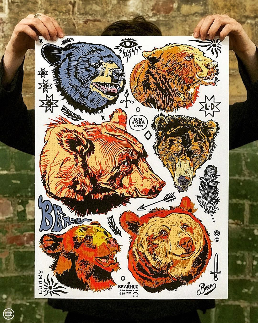 """Luke Dixon on Instagram: """"'Bear Head' A2 Print is now"""