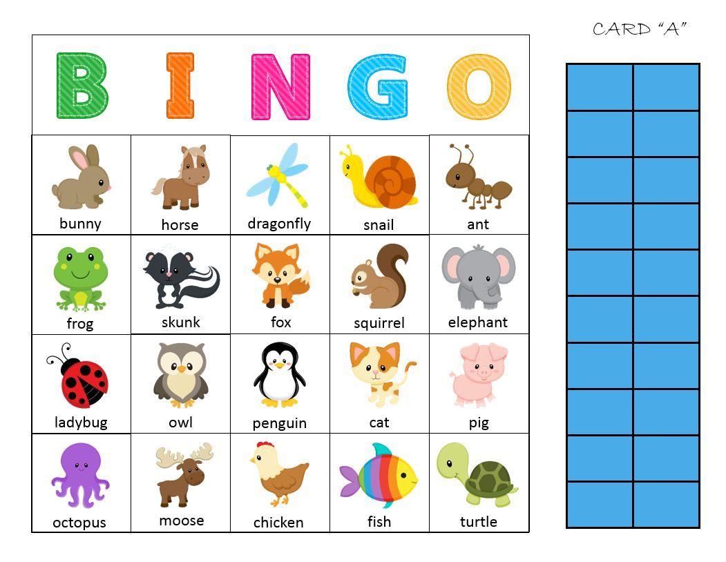 Animal bingo card signing resources pinterest animal bingo card spiritdancerdesigns Image collections