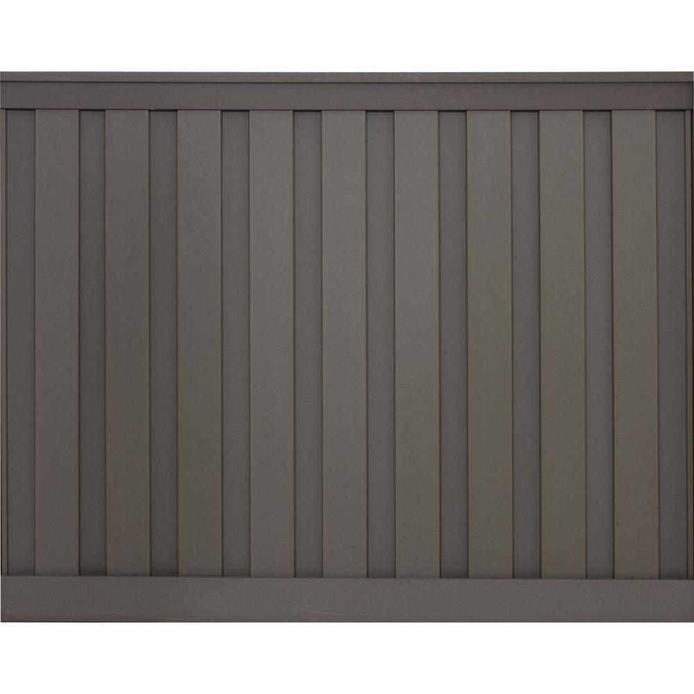 Trex Seclusions 6 Ft X 8 Ft Winchester Grey Wood Plastic