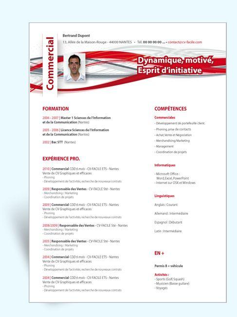 Creation Modele Cv Original Et Lettre De Motivation Modele Cv Modele Cv Gratuit Cv Commerciale