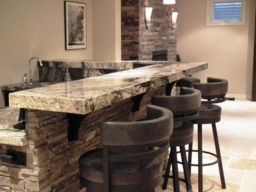 mediterranean family room slate tiles design pictures remodel decor and ideas page 5 stone bar for basement