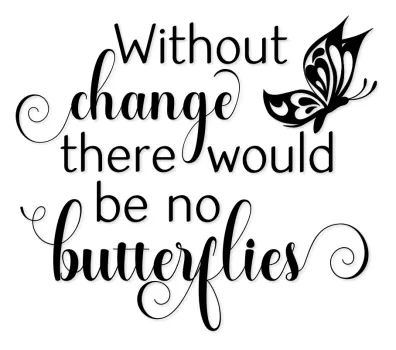 Without Change There Would Be No Butterflies Word Art SVG - Tidbits and Tinkerings