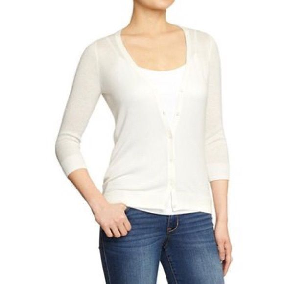 Old Navy Cotton V Neck Cardigan A new take on the classic cardi ...