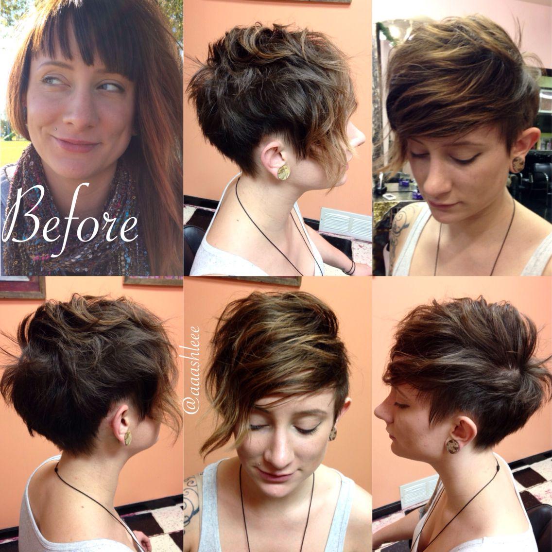 Pixie Undercut Brown Hair Short Hair Fun Hair Bed Head Cute Short Haircuts Pixie Haircut Long Pixie