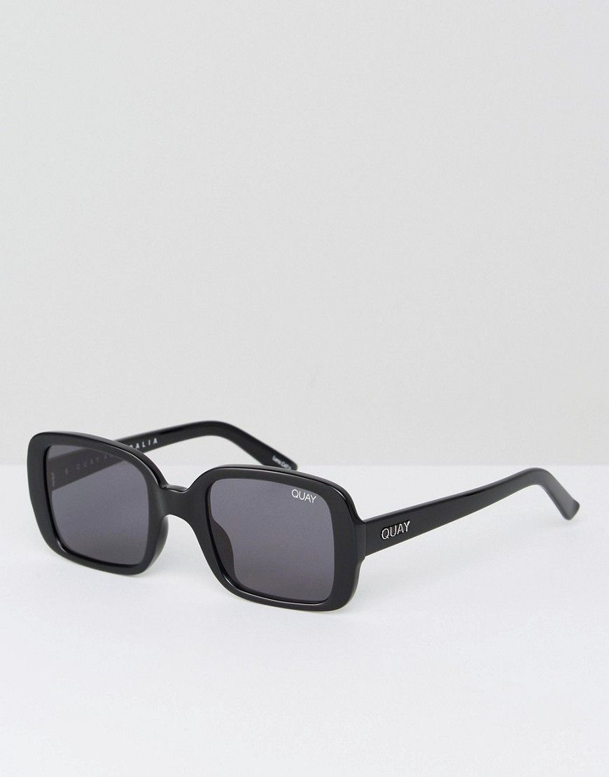 69fa6f78ff5 Get this Quay Australia s sunglasses now! Click for more details. Worldwide  shipping. Quay Australia X Kylie Jenner 20s Oversized Square Sunglasses In  Black ...