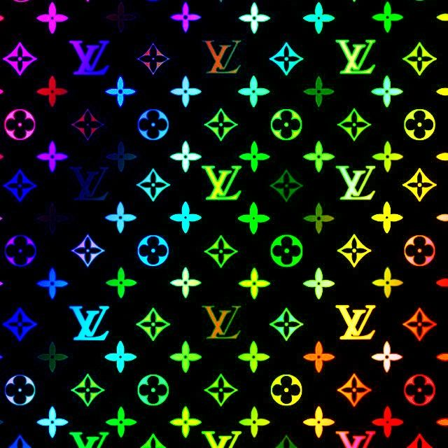 Rainbow Louis Viutton (Black Background) Louis vuitton