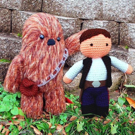 My Friend Han Solo and Chewbacca Wookie PDF Crochet Star Wars Toy ...