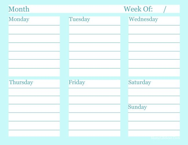 Weekly To Do List - Free Printable Free printable, Planners and - sample power point calendar