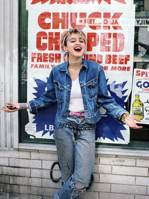 Madonna, a year before the release of her first album, 1982. Photograph by Richard Corman