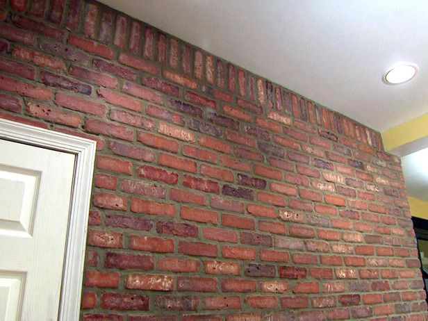 How to install brick veneer on a wall brick accent walls for Interior brick veneer