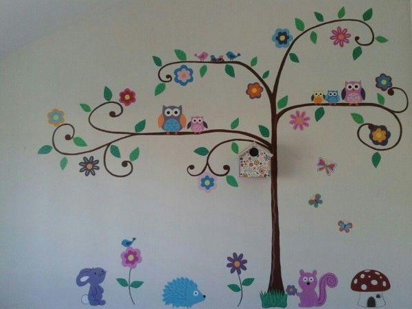 Arboles pintados en la pared para fotos buscar con - Como pintar las paredes de mi casa ...