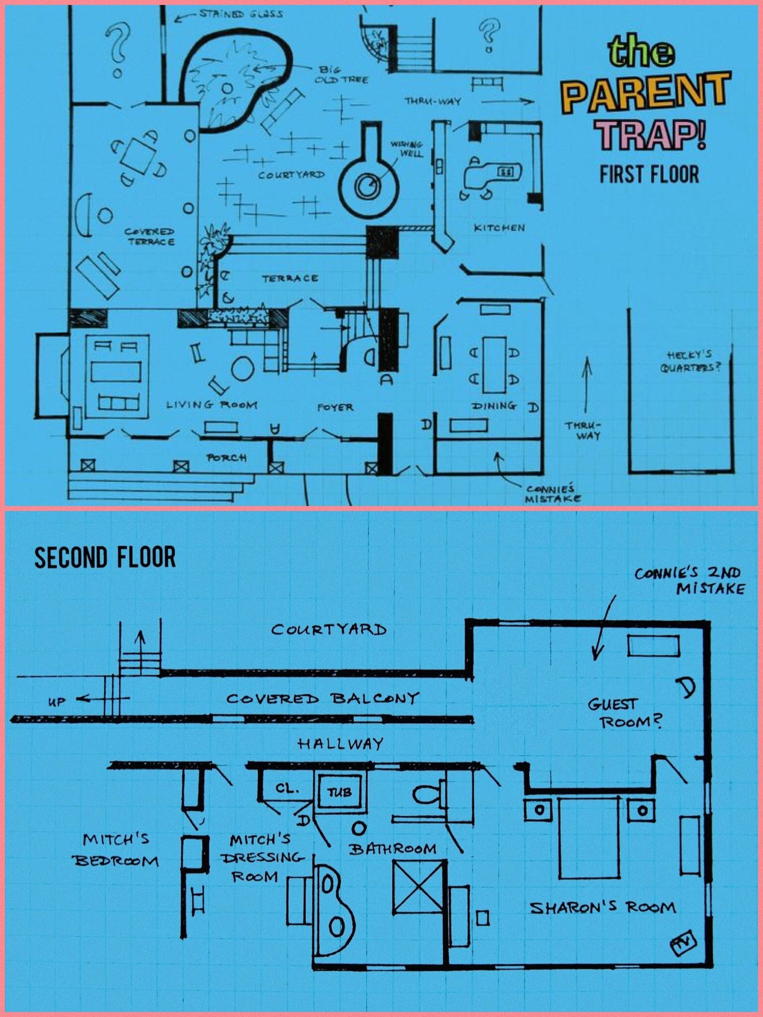 THE PARENT TRAP FLOOR-PLANS   Houses   Pinterest   Parent trap ...